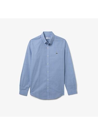 Lacoste Erkek Slim Fit Gömlek CH0174.74M Mavi